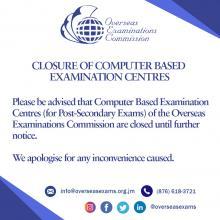 OEC CBE Centres closed
